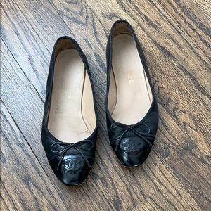 Black Chanel Flats 37.5